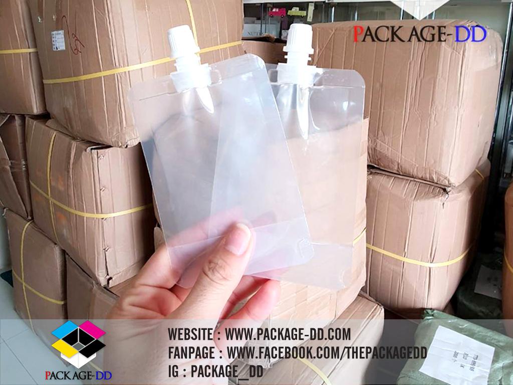 รับผลิตถุงใส ใส่ เจล 50 ml